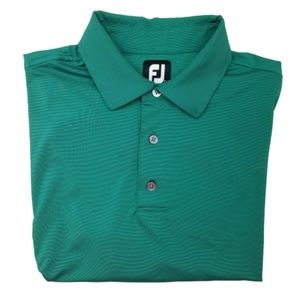 Footjoy Green Polyester Golf Polo Large